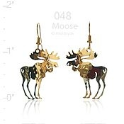 Moose Earrings