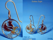 Golden Eagle Earrings