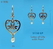 Lotus of Life Earrings with Faux Pearls