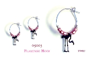 Flamingo Hoops with Pink Beads