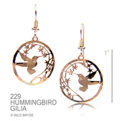 Large Hummer with Gila Flower earrings