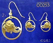 Asian Elephant Earrings