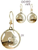 Gorilla in Circle Earrings