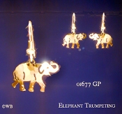 Elephant Trumpeting Earrings