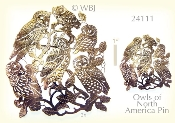 Owls of North America Pin