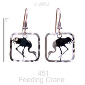 Feeding Crane Earrings