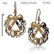 Holiday Wreath Earring