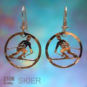 Alpine Skier Earrings