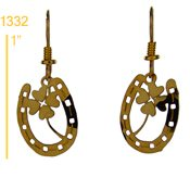 Lucky Clover in Horseshoe Earrings