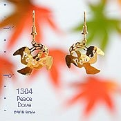 Winged Peace Dove Earrings