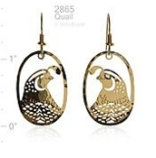 Wild Bryde Jewelry Oval Quail Earrings