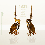 Small Barn Owl Earrings