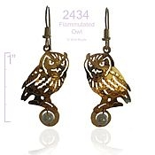 Flammulated Owl Earrings