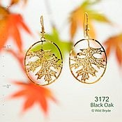 Falling Oak Leaf Earrings