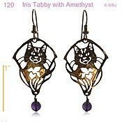 Tabby with Amethyst Earrings