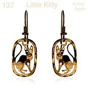 Little Kitty Cat Earrings