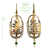 Wild Bryde Cedar Earrings