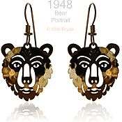 Bear Portrait Earrings