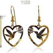 Hummmer in Heart earrings