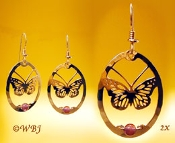 Monarch Butterfly with Amethyst Beads