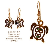 Swarovski Rhinestone Sea turtle earrings