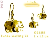 3-D walking Panda earring