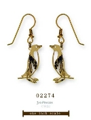 3-D Rockhopper Penguin earrings