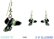 3-D Bluebird earrings