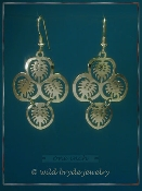Hawaiian Monstera Leaf Earrings