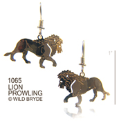 Prowling Lion Earrings