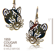 Cougar Face Earrings
