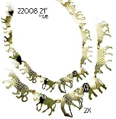 African Animals Necklace