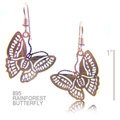 Rainforest Butterfly Earrings