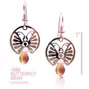 Butterfly Earrings with Teardrop Beads