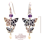 Fluttering Hearts Butterfly Earrings