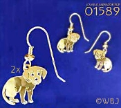 Loveable Labrador Puppy Earrings