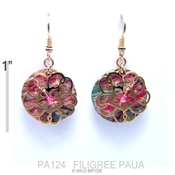 Filigree Paua Earrings