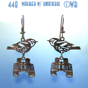 Warbler with Binocular Earrings