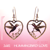 Hummingbird Love Earrings