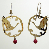 3-D Japanese Crane Earrings