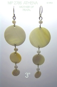 Mother of Pearl Cascade Earrings