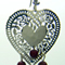 Fancy Heart and Garnets Earring