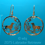 Retriever and Ducks Earrings