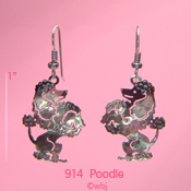 Fancy Poodle Earrings