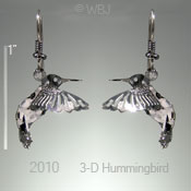 3-D Hummer Earrings