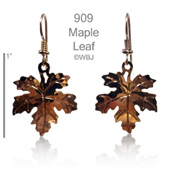 Wild Bryde Maple Leaf Earrings