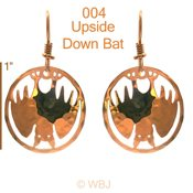 Upside Down Bat Earrings