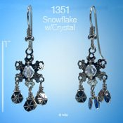 Twinkling Snowflake with Crystal Earrings