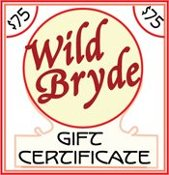 Wild Bryde Jewelry $75 Gift Certificate