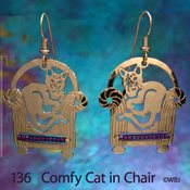 Cat in a Comfy Chair Earrings